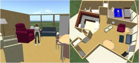 3D simulation of elderly living